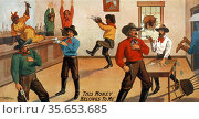 W.I. Swain's western spectacular production, Jesse James  [1880] (... Редакционное фото, агентство World History Archive / Фотобанк Лори