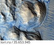 Geologic layering on Mars. image from the HiRISE high-resolution ... Редакционное фото, агентство World History Archive / Фотобанк Лори