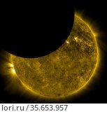 On Oct. 7, 2010, NASA's Solar Dynamics Observatory, or SDO, observed... Редакционное фото, агентство World History Archive / Фотобанк Лори