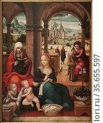 Miguel Esteve. Valencia between 1510 - 1528, Spain. Holy Family. ... (2019 год). Редакционное фото, фотограф Ruddy Gold / age Fotostock / Фотобанк Лори