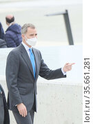 King Felipe VI of Spain attends the Opening of the new Airbus Campus... Редакционное фото, фотограф ©MANUEL CEDRON / age Fotostock / Фотобанк Лори