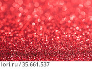 Shiny red bokeh glitter lights abstract background, Christmas New... Стоковое фото, фотограф Zoonar.com/Ivan Mikhaylov / easy Fotostock / Фотобанк Лори