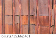 Old rusty metal background. Стоковое фото, фотограф Юрий Бизгаймер / Фотобанк Лори