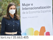 Queen Letizia of Spain attends Presentation of the Report of the '... Редакционное фото, фотограф ©MANUEL CEDRON / age Fotostock / Фотобанк Лори
