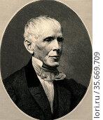 Samuel Luther Dana (1795-1868) American physician, chemist and geologist. Редакционное фото, агентство World History Archive / Фотобанк Лори