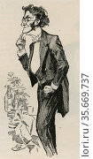 Augustine Birrell  (1850-1933) British Liberal politician. Редакционное фото, агентство World History Archive / Фотобанк Лори