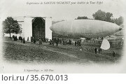 Alberto Santos-Dumont's airship No. 6 in which he won the Deutsch Prize, 19 October 1901. Редакционное фото, агентство World History Archive / Фотобанк Лори