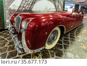 Delahaye 175, years of production 1948-1951 year. The Museum of Technology of Vadim Zadorozhny. Moscow Region, Russia (2020 год). Редакционное фото, фотограф Наталья Волкова / Фотобанк Лори