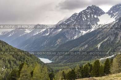 Landscape near Staller Saddle, High Tauern, East Tyrol, Austria.