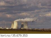 Nuclear power station Dukovany, Vysocina region, Czech republic. Стоковое фото, фотограф Richard Semik / easy Fotostock / Фотобанк Лори