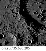 July 8, 2009. Hahn crater on the bottom left, and Gauss in the upper... Редакционное фото, агентство World History Archive / Фотобанк Лори