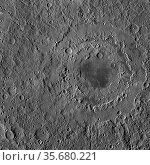 The Orientale basin, the youngest of the large lunar basins. Редакционное фото, агентство World History Archive / Фотобанк Лори