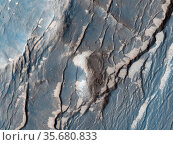 The Claritas Fossae region is characterised by systems of 'graben... Редакционное фото, агентство World History Archive / Фотобанк Лори