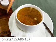 Nourishment veal bouillon. Стоковое фото, фотограф Яков Филимонов / Фотобанк Лори