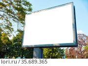 Weißes Mega-Light Digital Poster Billboard Mock-Up Template in einer... Стоковое фото, фотограф Zoonar.com/Robert Kneschke / age Fotostock / Фотобанк Лори