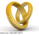 Обручальные кольца. Стоковая иллюстрация, иллюстратор WalDeMarus / Фотобанк Лори