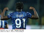 Duvan Zapata (Atalanta) during the match ,Bergamo, ITALY-25-04-2021. Редакционное фото, фотограф Alberto Ramella / Sync / AGF/Alberto Ramella / Syn / age Fotostock / Фотобанк Лори