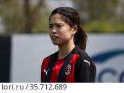 Yui Hasegawa (AC Milan) during the matchday 7, Serie A Timvision, ... Редакционное фото, фотограф Claudia Greco / AGF/Claudia Greco / AGF / age Fotostock / Фотобанк Лори