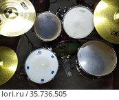 Rock bands drum kit. Редакционное фото, фотограф Евгений Ткачёв / Фотобанк Лори