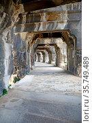 Grand Corridor inside an ancient Roman Amphitheatre at Nimes in the... Стоковое фото, фотограф Neil Harrison / age Fotostock / Фотобанк Лори