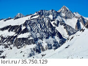 The mighty Aletschhorn (Geisshorn in the foreground) in the Bernese... Стоковое фото, фотограф Neil Harrison / age Fotostock / Фотобанк Лори