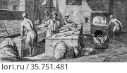 A bakery in the eighteenth century, the picturesque magazin, editor... (2009 год). Редакционное фото, фотограф Louis Bertrand / age Fotostock / Фотобанк Лори