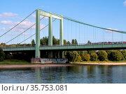 Brücke bei Rodenkirchen Köln. Стоковое фото, фотограф Zoonar.com/Marlene Cleven / age Fotostock / Фотобанк Лори