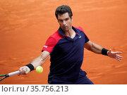 Pablo Andujar of Spain in action during on the ATP Masters 1000 - ... Редакционное фото, фотограф Oscar Gonzalez / WENN / age Fotostock / Фотобанк Лори