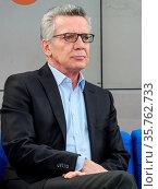 Thomas de Maizière auf der Leipziger Buchmesse 2019. Стоковое фото, фотограф Zoonar.com/Axel Kammerer / age Fotostock / Фотобанк Лори
