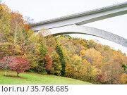 Detail of Double Arch Bridge at Natchez Trace Parkway near Franklin... Стоковое фото, фотограф Zoonar.com/Marek Uliasz / easy Fotostock / Фотобанк Лори