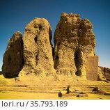 View to Western Deffufa temple in Kerma Nubia, Sudan (2011 год). Стоковое фото, фотограф Сергей Майоров / Фотобанк Лори