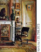 Juan Luna, Salon de Dona Juliana, 1891 (Paris). Oil on canvas. Редакционное фото, агентство World History Archive / Фотобанк Лори