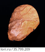 The hand-axe was made around 250,000 years ago. During the Stone Age, hunter gatherers roamed the area we now know as Birmingham in the United Kingdom. Редакционное фото, агентство World History Archive / Фотобанк Лори