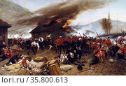 The Battle of Rorke's Drift, during the Anglo-Zulu War. Редакционное фото, агентство World History Archive / Фотобанк Лори