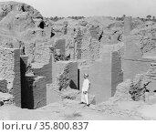 Iraq. Babylon 'the great.' Various views of the crumbling ruins. ... Редакционное фото, агентство World History Archive / Фотобанк Лори