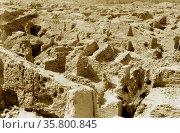 Iraq. Babylon, view of the crumbling ruins. The Ishtar gate showing... Редакционное фото, агентство World History Archive / Фотобанк Лори