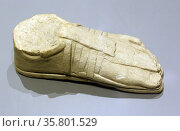 Sandals were commonly worn for walking in the ancient world. Редакционное фото, агентство World History Archive / Фотобанк Лори