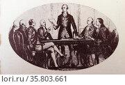Alexander Hamilton (1789-1795), first United States Secretary of the Treasury. Редакционное фото, агентство World History Archive / Фотобанк Лори