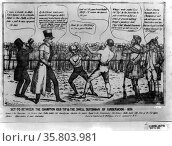 Satire on the 1836 presidential campaign. Редакционное фото, агентство World History Archive / Фотобанк Лори