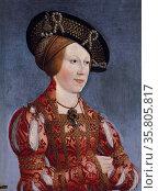 portrait of Queen Anna by Hans Maler zu Schwaz (1490–1530) Редакционное фото, агентство World History Archive / Фотобанк Лори