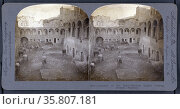 Stereograph of a Courtyard of old Kahn. Редакционное фото, агентство World History Archive / Фотобанк Лори