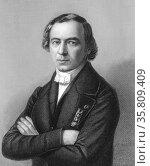 Portrait of Jean Baptiste Andre Dumas. Редакционное фото, агентство World History Archive / Фотобанк Лори