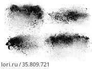 Abstract design of set dark powder particles explosion isolated over... Стоковое фото, фотограф Zoonar.com/Svetlana Radayeva / easy Fotostock / Фотобанк Лори