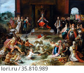 Painting titled 'Allegory on the Abdication of Emperor Charles V in Brussels' Редакционное фото, агентство World History Archive / Фотобанк Лори