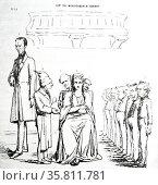 Cartoon on the Dutch ministerial crisis of 1862. (2014 год). Редакционное фото, агентство World History Archive / Фотобанк Лори