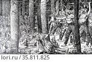 The Eburonen raided the Romans (2014 год). Редакционное фото, агентство World History Archive / Фотобанк Лори