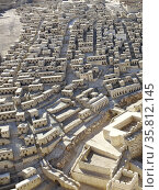 Detailed street view of the Model of Jerusalem at the Israel Museum. (2014 год). Редакционное фото, агентство World History Archive / Фотобанк Лори