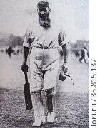 Dr. William Gilbert Grace (1848-1915), cricketer of legendary fame. Редакционное фото, агентство World History Archive / Фотобанк Лори