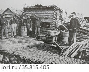 Photograph showing the field kitchen at the camp of the Sixth New York Artillery at Brandy Station, Virginia. Редакционное фото, агентство World History Archive / Фотобанк Лори