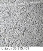 Bottles chopped into pellets. Polyethylene terephthalate PET, PETE, Редакционное фото, агентство World History Archive / Фотобанк Лори